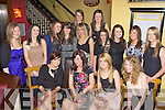Ruth Kelliher Fair Hill, Killarney celebrated her 18th birthday in Lord Kenmare's restaurant Killarney on Saturday night front row l-r: Blaithin Ni? Mhurchu?, Ruth Kelliher, Amy Moriarty, Ester Kelliher. Back row: Roisin Looney, Cliona Daly, Sarah Breen, Celina McSweeney, Sinead Kelly, Anita Sayers, Aoife Reynolds, Aoife Healy, Fiona O'Connor, Lisa Tuohy and Niamh O'Connor....