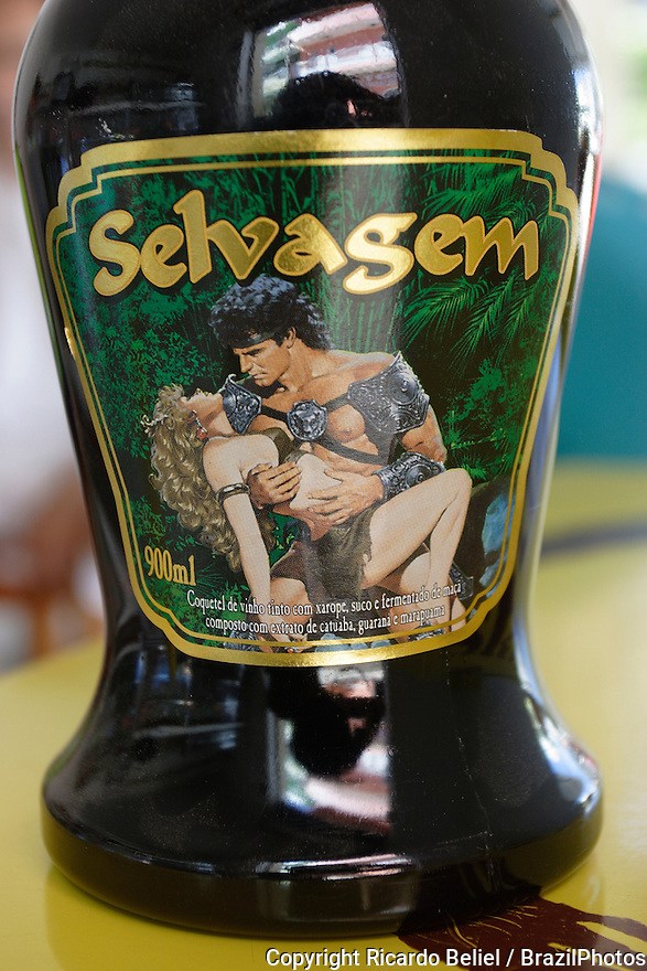 Catuaba, popular aphrodisiac drink in Brazil, with guarana and marapuama.