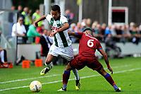 GRONINGEN - Voetbal, FC Groningen o23 - Quick Boys, derde divisie zaterdag, seizoen 2018-2019, 01-09-2018,  FC Groningen speler Daniel van Kaam met Mohamed Mahmoed
