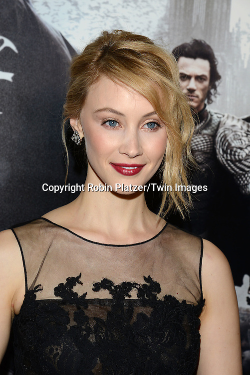 actress Sarah Gadon attends the Special Screening of &quot;Dracula Untold&quot;  on October 6, 2014 at The ABC Loews 34th Street Imax Theatre In New York City. <br /> <br /> photo by Robin Platzer/Twin Images<br />  <br /> phone number 212-935-0770