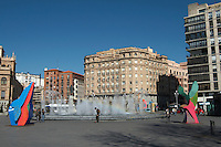 apartment buildings plaza zorilla Valladolid spain castile and leon