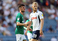 Sheffield Wednesday's Morgan Fox and Sheffield Wednesday's Adam Reach<br /> <br /> Photographer Rich Linley/CameraSport<br /> <br /> The EFL Championship - Preston North End v Sheffield Wednesday - Saturday August 24th 2019 - Deepdale Stadium - Preston<br /> <br /> World Copyright © 2019 CameraSport. All rights reserved. 43 Linden Ave. Countesthorpe. Leicester. England. LE8 5PG - Tel: +44 (0) 116 277 4147 - admin@camerasport.com - www.camerasport.com