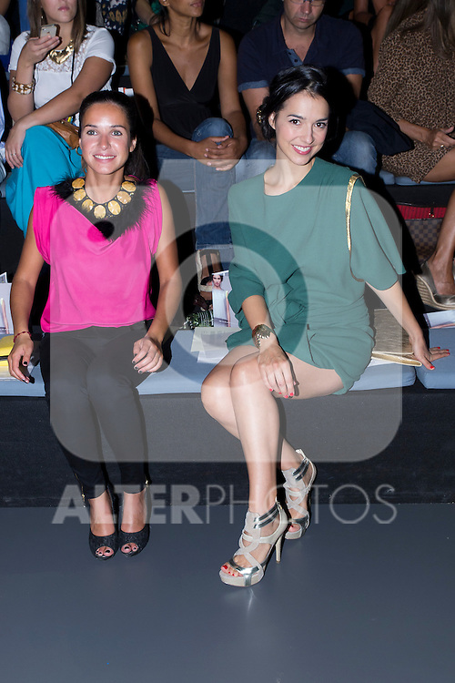 02.09.2012. Celebrities attending the Maria Barros and Sara Coleman fashion show during the Mercedes-Benz Fashion Week Madrid Spring/Summer 2013 at Ifema. In the image (L-R) Paula Prendes  and Cristina Brondo (Alterphotos/Marta Gonzalez)