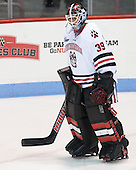 Jake Theut (NU - 39) - The visiting University of Vermont Catamounts defeated the Northeastern University Huskies 6-2 on Saturday, October 11, 2014, at Matthews Arena in Boston, Massachusetts.