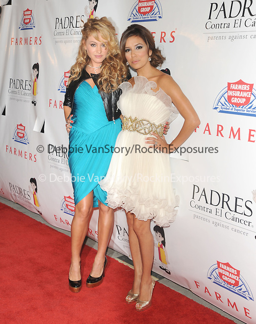 Paulina Rubio & Eva Longoria at The Padres Contra El Cancer's 9th Annual El Sueno de Esperanza Gala held at The Palladium on September 10,2009                                                                   Copyright 2009 DVS / RockinExposures