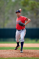 Atlanta Braves pitcher Alec Grosser (80) during an intrasquad Spring Training game on March 25, 2016 at ESPN Wide World of Sports Complex in Orlando, Florida.  (Mike Janes/Four Seam Images)