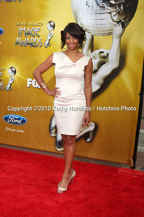 Monique Coleman.arriving  at the 41st NAACP Image Awards .Shrine Auditorium.Los Angeles, CA.February 26, 2010.©2010 Kathy Hutchins / Hutchins Photo....