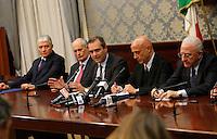 durante la conferenza stampa tenuta dopo ilComitato Provinciale Ordine e Sicurezza nella Prefettura di Napoli