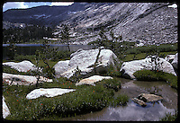 Morning, Easterly across meadows. Young Lakes, Yosemite National Park. View shot on Kodachrome II, Nikon Ftn camera, 125th f8 35mm f/2 Nikkor Lens, 1 August 1973