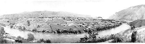 Dorman caption &quot;A wide-angle view of Durango from the hills on the west, looking east over the Animas River, about 1910.&quot;<br /> D&amp;RG  Durango, CO  ca. 1910