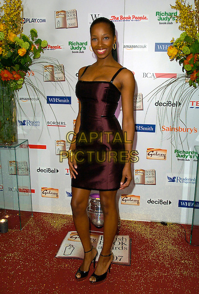 JAMELIA .The Galaxy British Book Awards, Grosvenor House Hotel, London, England. .March 28th, 2007.full length purple aubergine dress satin .CAP/CAN.©Can Nguyen/Capital Pictures