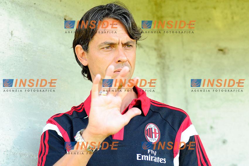 Filippo Inzaghi Milan<br /> Solbiate Arno 16-07-2014 Stadio Felice Chinetti - Football Calcio Amichevole. Pre season training. Milan - Renate Foto Giuseppe Celeste / Insidefoto
