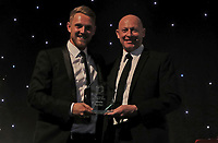 Jamie Porter collects the bowler of the year award during the Essex CCC 2017 Awards Evening at The Cloudfm County Ground on 5th October 2017