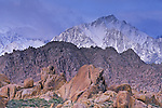 Storm clouds over Lone Pine Peak and the Alabama Hills, near Lone Pine, Eastern Sierra, California