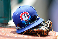Chattanooga Lookouts glove, sunglasses and hat during a game against the Birmingham Barons on April 17, 2013 at AT&T Field in Chattanooga, Tennessee.  Chattanooga defeated Birmingham 5-4.  (Mike Janes/Four Seam Images)