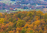 Shenandoah National Park, VA: Autumn view of the Shenadoah Valley from Skyline Drive