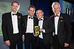 © Joel Goodman - 07973 332324 . 06/11/2014 .  Manchester , UK . Young Business of the Year , restoration specialist Prymo Surface Solutions. The MEN Business Awards 2014 at the Midland Hotel . Photo credit : Joel Goodman