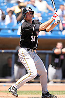 July 10th 2008:  Austin McClune of the Hickory Crawdads, Class-A affiliate of the Pittsburgh Pirates, during a game at Classic Park in Eastlake, OH.  Photo by:  Mike Janes/Four Seam Images