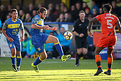 5th November 2017, Damson Park, Solihull, England; FA Cup first round, Solihull Moors versus Wycombe Wanderers; Darren Carter of Solihull Moors lobs the ball