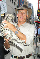 June 13, 2012 Jack Hanna with a baby Snow Leopard at Good Morning America studios in New York City. © RW/MediaPunch Inc. NORTEPHOTO.COM<br />