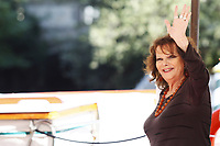 VENICE, ITALY - SEPTEMBER 05: Claudia Cardinale celebrity Sightings at the 74th Venice Film Festival - September 5, 2017 in Venice, Italy. (Mark Cape/insidefoto)