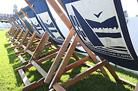 Visit Eastbourne deckchairs during Sussex Sharks vs Essex Eagles, Royal London One-Day Cup Cricket at The Saffrons on 3rd June 2018
