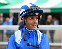 Jockey Jim Crowley during Evening Racing at Salisbury Racecourse on 3rd September 2019