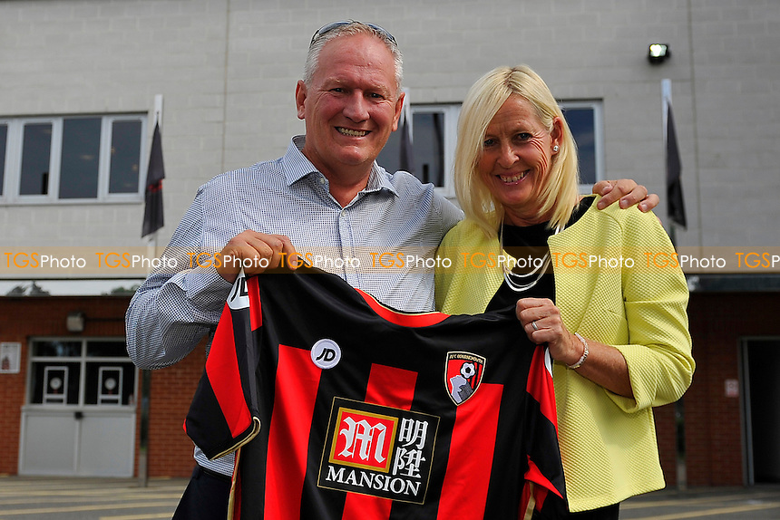 Lucky AFC Bournemouth fans who managed to buy this seasons shirts which were late being delivered during AFC Bournemouth vs Leicester City
