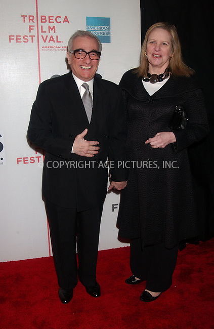 "WWW.ACEPIXS.COM . . . . .....April 25 2007, New York City....Director Martin Scorsese (L) and wife Helen Morris arriving at the opening night premiere of ""SOS"" at the 2007 Tribeca Film Festival in downtown Manhattan.....Please byline: Kristin Callahan - ACEPIXS.COM..... *** ***..Ace Pictures, Inc:  ..Philip Vaughan (646) 769 0430..e-mail: info@acepixs.com..web: http://www.acepixs.com"