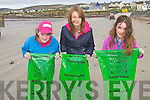 CLEAN UP: Shauna Dineen-Higgins, Kate Dineen and Ciara Lucid taking part in the Ballyheigue Clean Up on Good Friday...