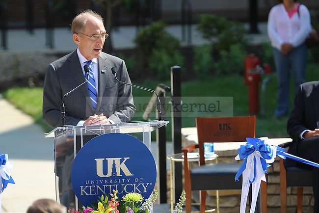The University of Kentucky held a ceremony to open the New Central residence hall on campus on Friday, August,16, 2013 in Lexington, KY. Photo by Michael Reaves | Staff