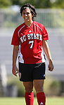 NC State's Chantalle Dugas (CAN) on Sunday, October 1st, 2006 at Koskinen Stadium in Durham, North Carolina. The Duke Blue Devils defeated the North Carolina State University Wolfpack 3-0 in an Atlantic Coast Conference NCAA Division I Women's Soccer game.