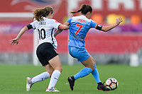 Bridgeview, IL - Sunday June 25, 2017: Daphne Corboz, Taylor Comeau during a regular season National Women's Soccer League (NWSL) match between the Chicago Red Stars and Sky Blue FC at Toyota Park. The Red Stars won 2-1.