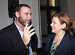 Liev Schreiber and City Council Speaker Christine Quinn attending the Unveiling of the Revitalized Public Theater at Astor Place in New York City on 10/4/2012.