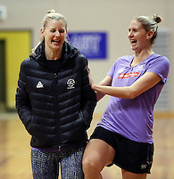 14.07.2014 Casey Kopua and Katrina Grant - at the Silver Ferns train in Auckland ahead of them leaving for the Commonwealth Games. Mandatory Photo Credit ©Michael Bradley.