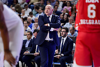 Real Madrid's coach Pablo Laso during Turkish Airlines Euroleague match between Real Madrid and Crvena Zvezda Mts Belgrade at Wizink Center in Madrid, Spain. March 10, 2017. (ALTERPHOTOS/BorjaB.Hojas) /NortePhoto.com