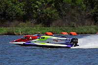 Dustin Terry (#03), Curtis Nunez' (#55) and Barry McCollugh (#14)      (Formula 1/F1/Champ class)