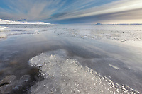 Freeze up along the shore of Barter Island along the Beaufort Sea, Arctic, Alaska.