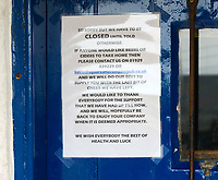 BNPS.co.uk (01202 558833)<br /> Pic: Graham Hunt/BNPS<br /> <br /> No room at the Inn over the weekend - The historic Square & Compass pub at Worth Matravers in Dorset which is now closed until further notice due to the Coronavirus pandemic.
