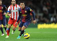 Adriano ( FC Barcelone ) .Football Calcio 2012/2013.La Liga Spagna.Foto Panoramic / Insidefoto .ITALY ONLY