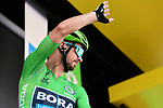 Green Jersey Peter Sagan (SVK) Bora-Hansgrohe at sign on before Stage 7 of the 2019 Tour de France running 230km from Belfort to Chalon-sur-Saone, France. 12th July 2019.<br /> Picture: ASO/Alex Broadway | Cyclefile<br /> All photos usage must carry mandatory copyright credit (© Cyclefile | ASO/Alex Broadway)