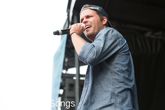 Sean Foreman of 3OH!3 performs during the Vans Warped Tour at the Klipsch Music Center in Indianapolis, IN.