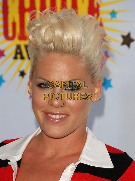 PINK.Arrivals at The Nickelodeon's 19th Annual Kids' Choice Awards held at UCLA's Pauley Pavilion in Westwood, California, USA, April 1st 2006..portrait headshot music pinnk hair quiff.Ref: DVS.www.capitalpictures.com.sales@capitalpictures.com.©Debbie VanStory/Capital Pictures