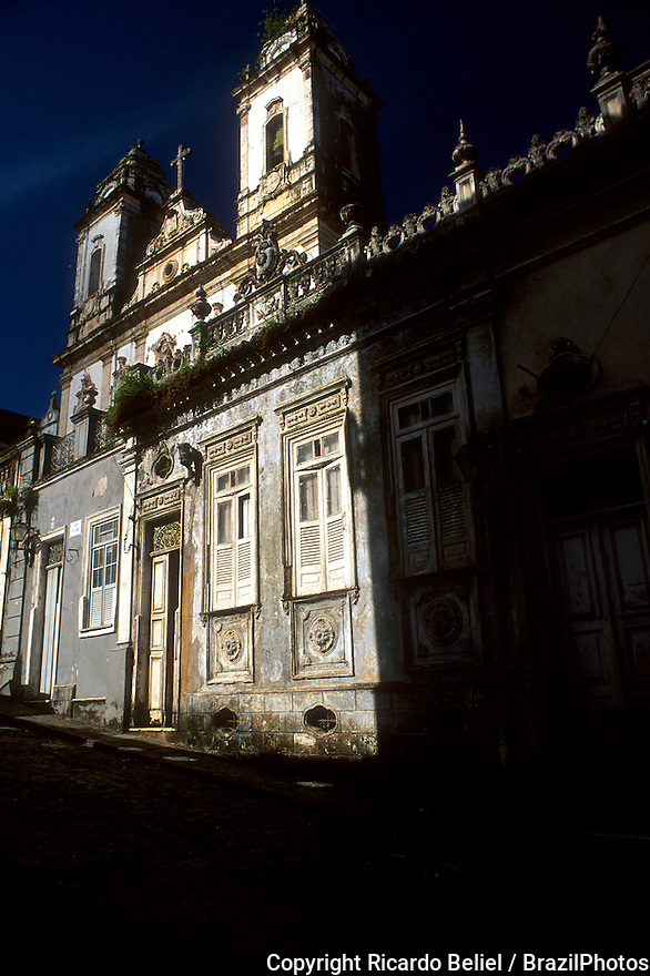 The Sao Francisco Church and Convent of Salvador ( Portuguese: Convento e Igreja de Sao Francisco) is located in the historical centre of Salvador, State of Bahia, Brazil. The convent and its church are very important colonial monuments in Brazil.