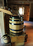 Whiskey barrels George Washington Grist Mill Alexandria Virginia, George Washington Whiskey distillery,Whiskey distillery, whiskey, Virginia,American State, Atlantic Coast, Southern United State, birthplace of eight US Presidents, Richmond, Fairfax County, Chesapeake Bay, Virginia Beach, Virginia Colony, 1607, Thhirteen Colonies, American Revolution, Confederacy, American civil war, Shenandoah Valley, The Pentagon, Northern Virginia, thirty-fifth largest state, Potomac River, skyline drive, Geat Appalachia valley, coal, slate, kyanite, Blue Ridge Mountains, Shenandoah valley, near Washington DC, Great Falls,