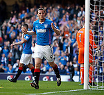 Jon Daly celebrates after heading in goal no 2 from close range