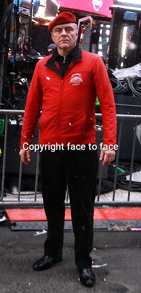 New York, NY-December 31: Curtis Sliwa at the 2014 New Years Eve Celebration held in Times Square on December 31, 2013 in New York City.<br /> Credit: MediaPunch/face to face<br /> - Germany, Austria, Switzerland, Eastern Europe, Australia, UK, USA, Taiwan, Singapore, China, Malaysia, Thailand, Sweden, Estonia, Latvia and Lithuania rights only -