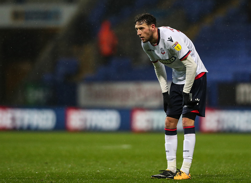 Bolton Wanderers' Will Buckley <br /> <br /> Photographer Andrew Kearns/CameraSport<br /> <br /> The EFL Sky Bet Championship - Bolton Wanderers v Leeds United - Saturday 15th December 2018 - University of Bolton Stadium - Bolton<br /> <br /> World Copyright © 2018 CameraSport. All rights reserved. 43 Linden Ave. Countesthorpe. Leicester. England. LE8 5PG - Tel: +44 (0) 116 277 4147 - admin@camerasport.com - www.camerasport.com