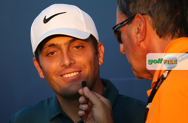 Francesco Molinari (ITA) is-a-very-appy as he has a share of the lead with Sergio Garcia (ESP) after Round Two of the DP World Tour Championship 2016, played at the Jumeirah Golf Estates, Dubai, United Arab Emirates. 18/11/2016. Picture: David Lloyd | Golffile.<br /> <br /> All photo usage must display a mandatory copyright credit as: &copy; Golffile &amp; David Lloyd.