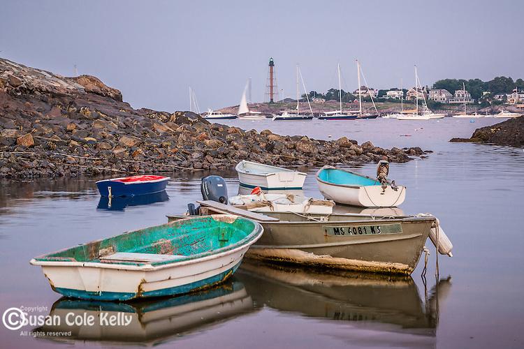 Evening in Marblehead Harbor in Marblehead, Massachusetts, USA